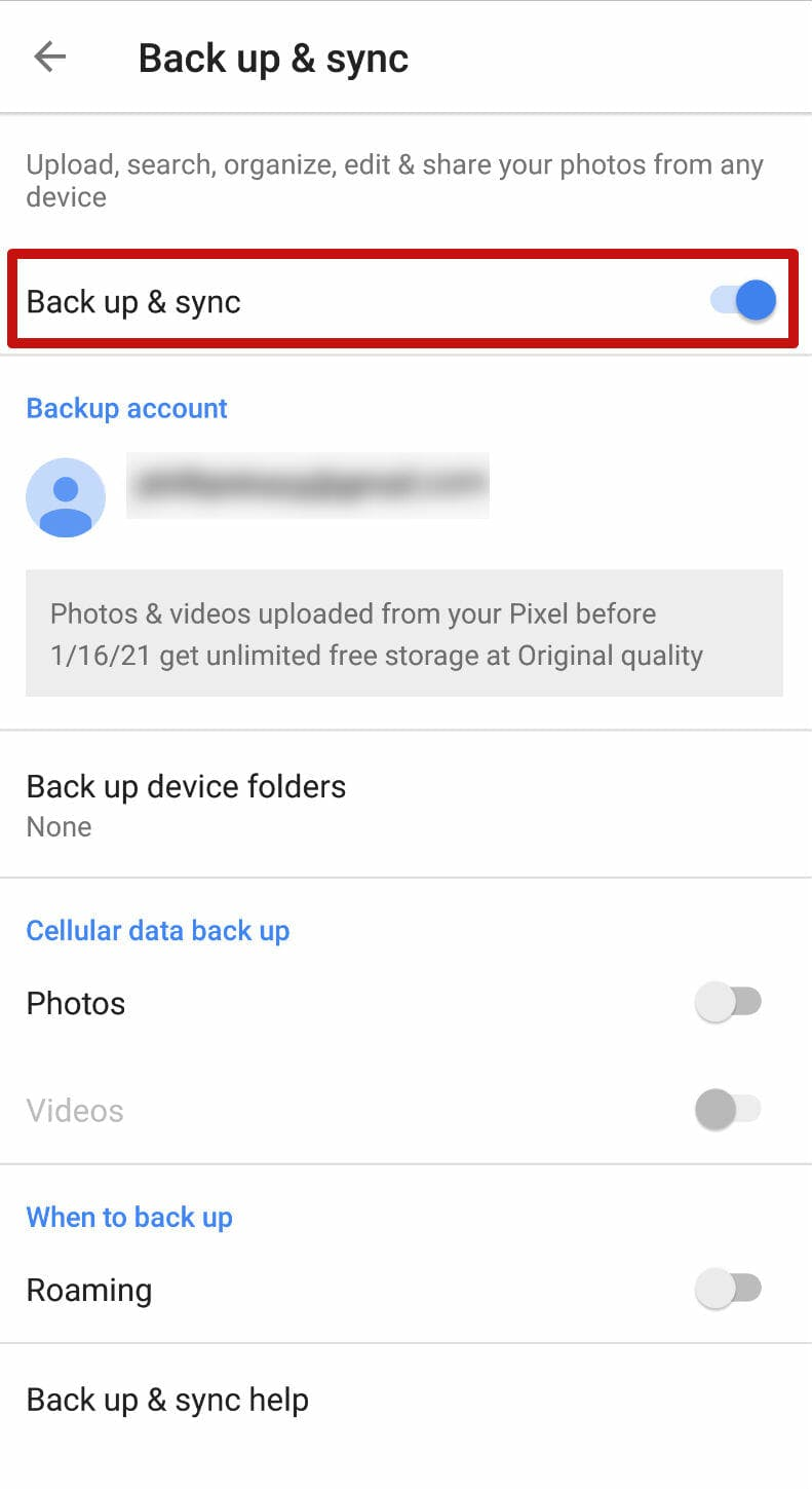 How to use Google Photos - google photos back up and sync