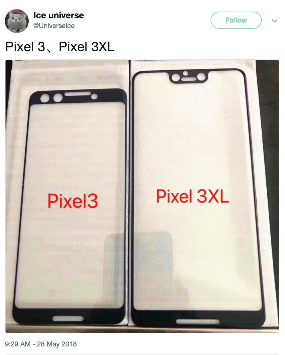 google pixel 3 design