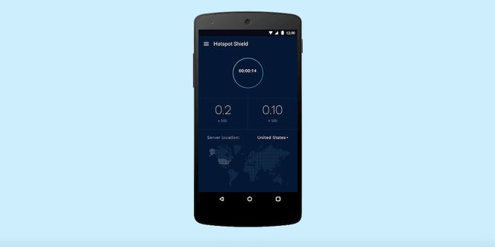 Hotspot Shield on Android