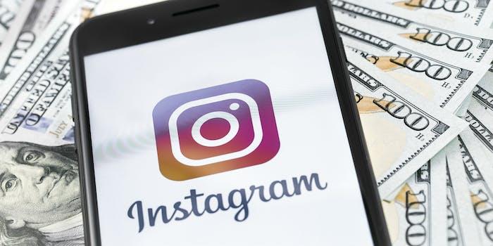 instagram social media money