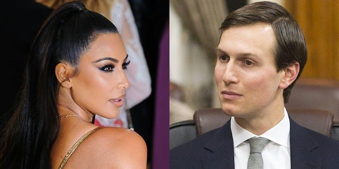 Kim Kardashian and Jared Kushner