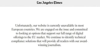 los angeles times gdpr newspaper news outlets