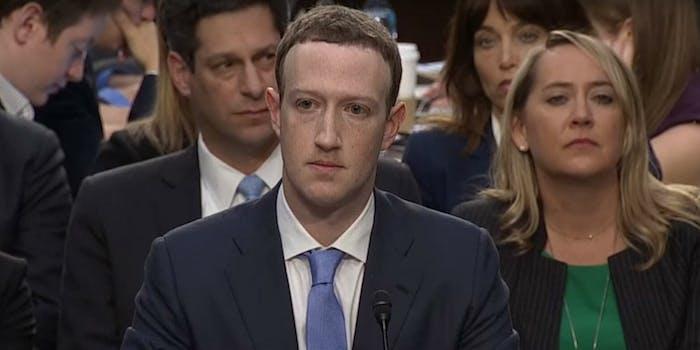 mark zuckerberg facebook ceo testimony