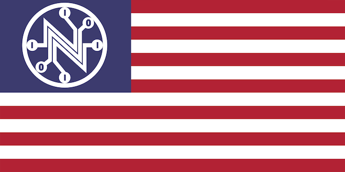 US flag with Net Neutrality logo. What you need to kmow anout the Senate net neutrality CRA vote.