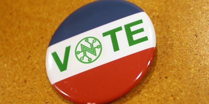 net neutrality vote button