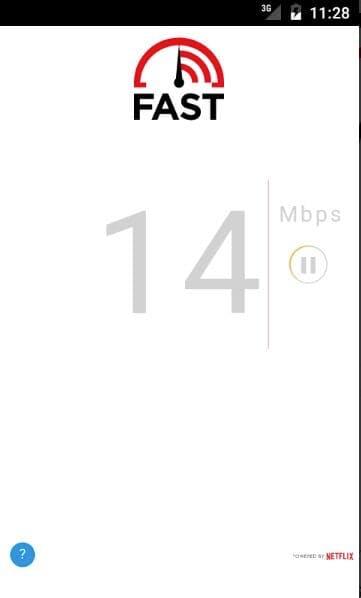 netflix speed test on mobile - FAST speed test app