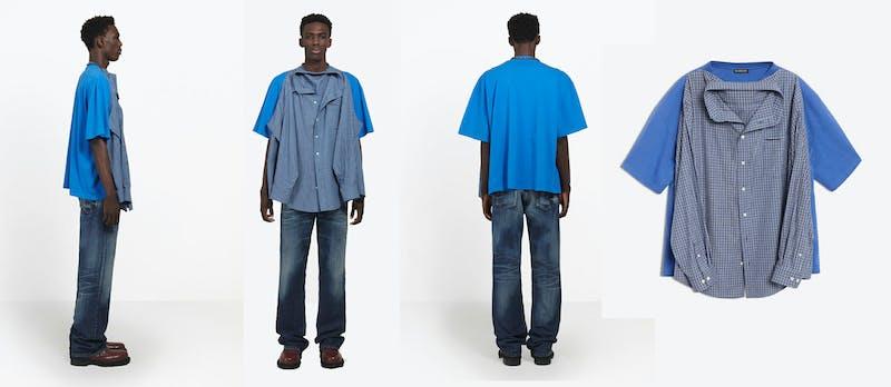 This 'T-Shirt Shirt' From Balenciaga Is Causes Confusion, Memes