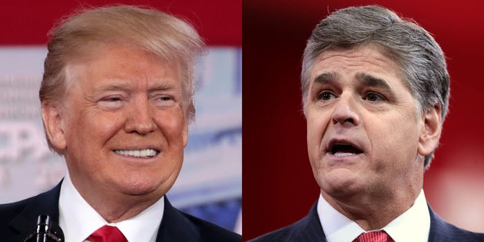 donald trump and sean hannity