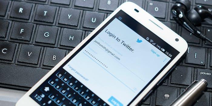 twitter password login credentials sign up