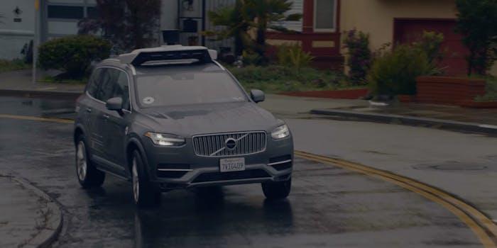 uber self-driving autonomous volvo