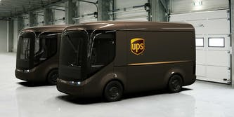 ups electric trucks uk and paris