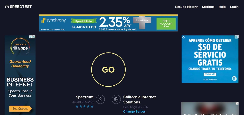 netflix speed test - speedtest.net