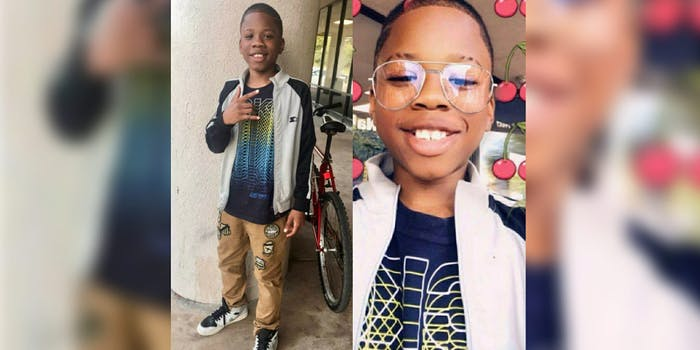 Zavion Parker, a child who was abducted and assaulted by men while coming home from school.
