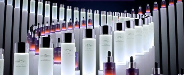 Missha products lined up in a spiral pattern