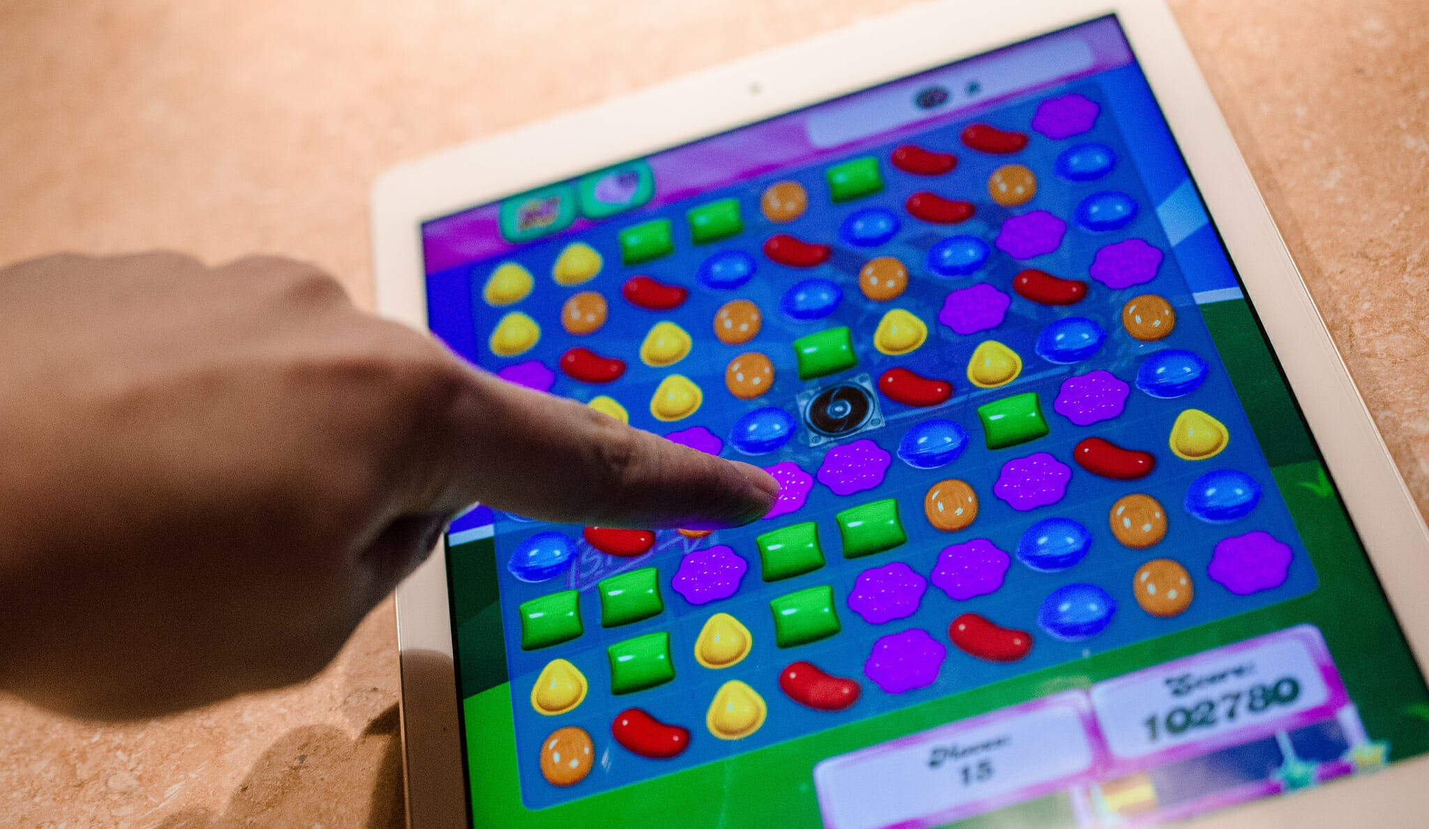 Candy Crush on iPad