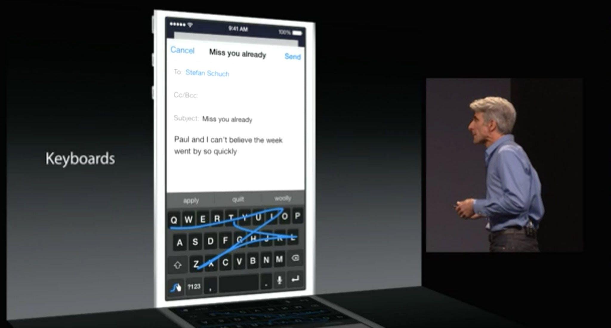 Swiftkey Apple Keynote