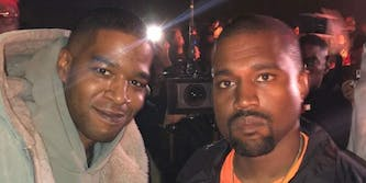 Kanye and Kid Cudi at Kids See Ghosts album listening party