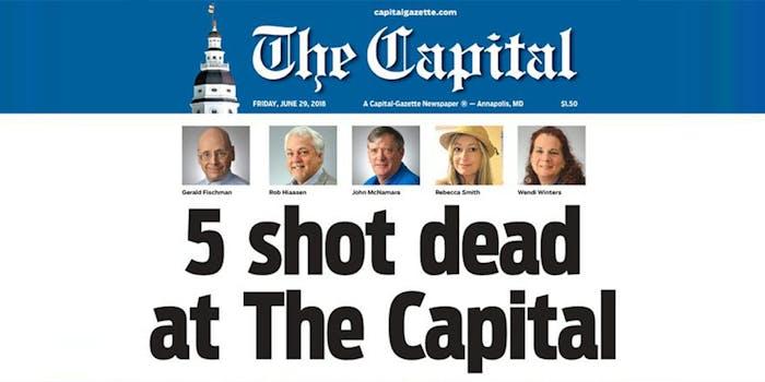 The Capital headline - 5 shot dead at The Capital