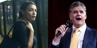 Sean Hannity tries to slam Alexandria Ocasio-Cortez, but fails miserably