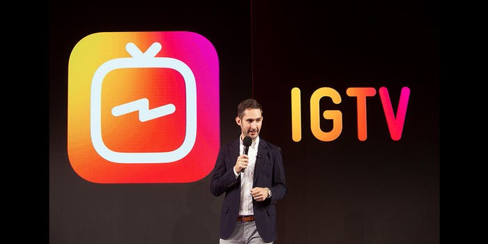 IGTV: Kevin Systrom onstage in San Francisco