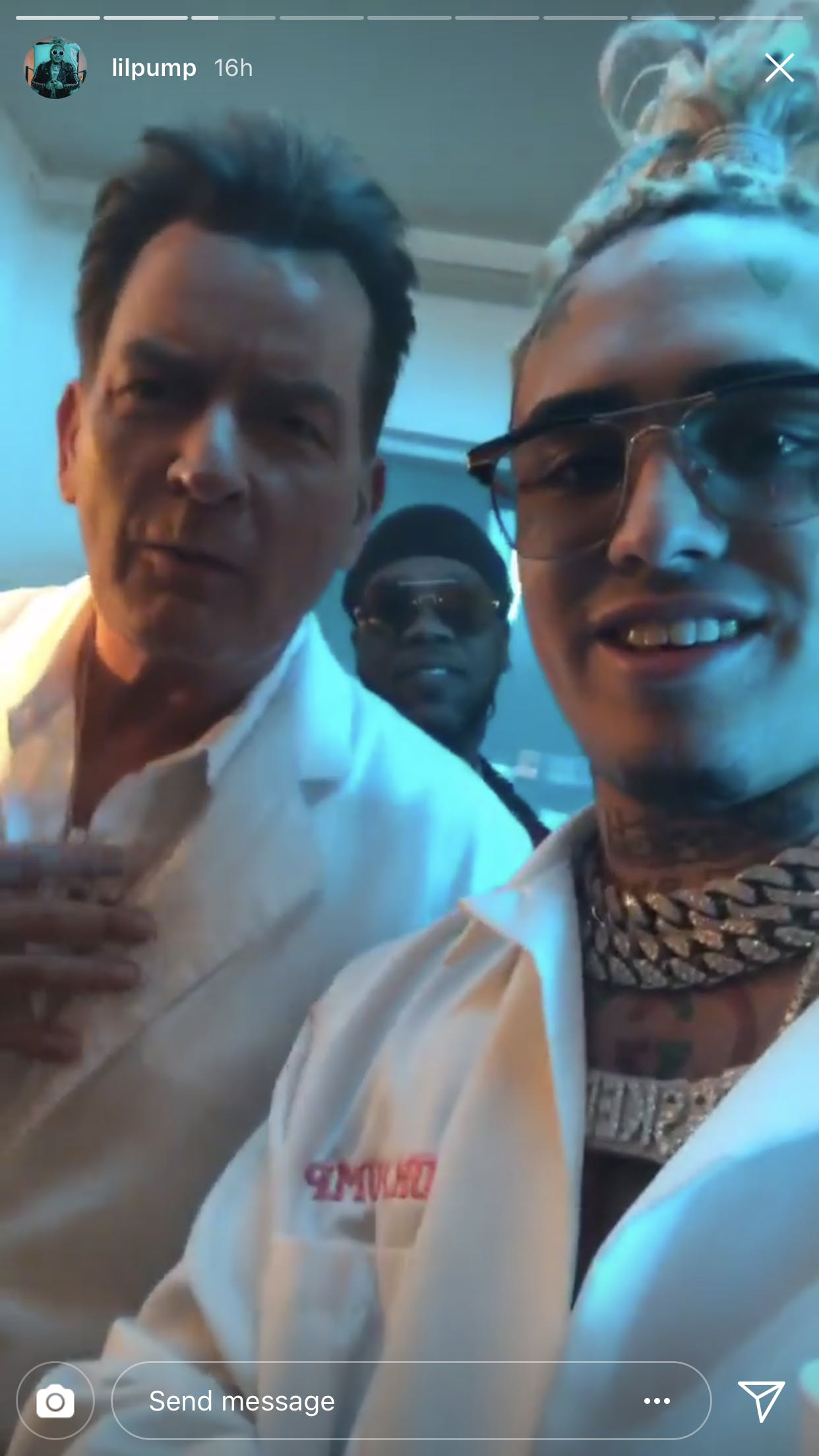 Lil Pump and Charlie Sheen
