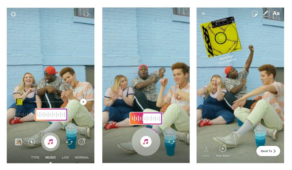 Instagram Music Stickers on iOS