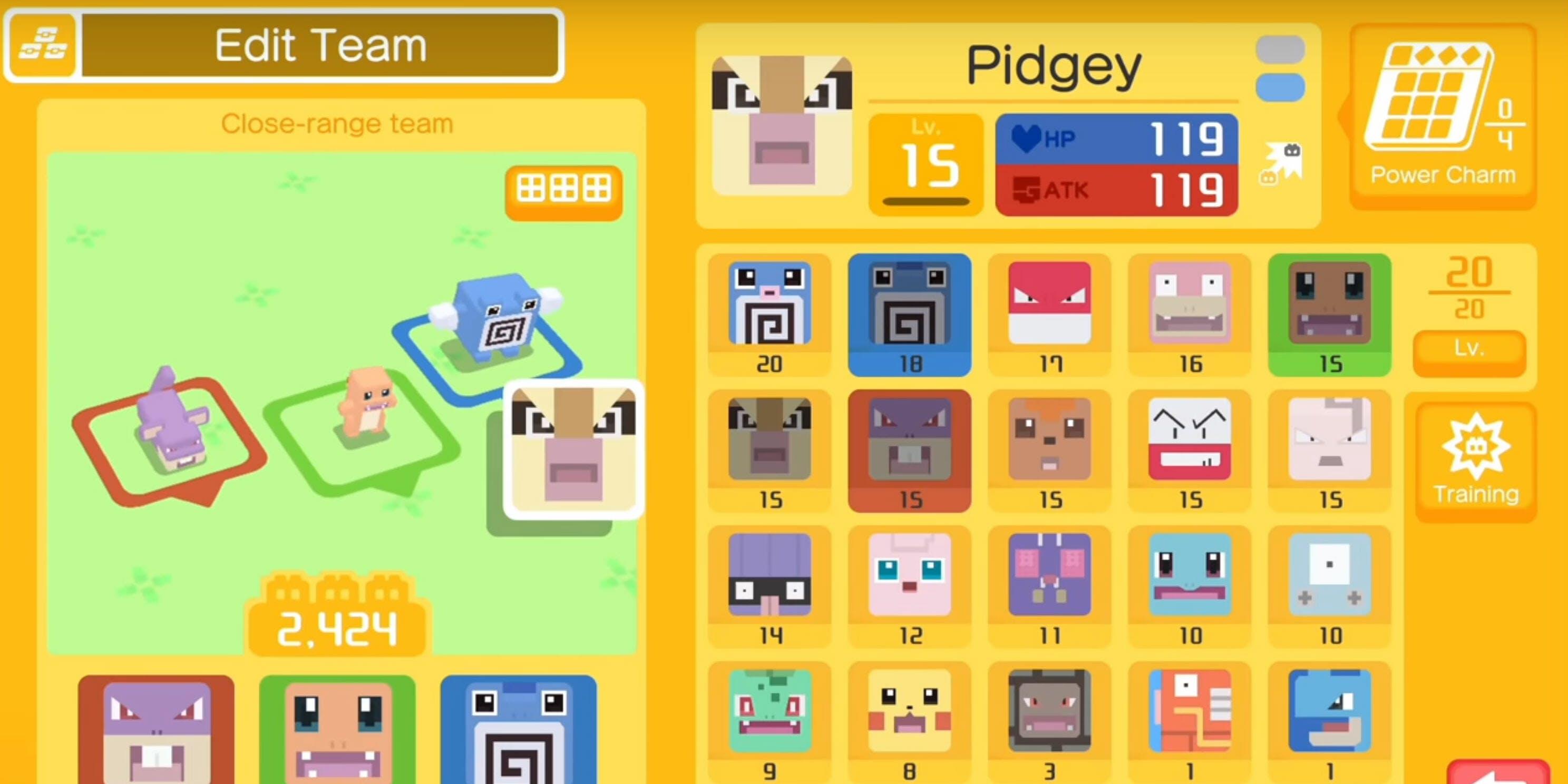 Pokemon Quest Review : pokedex