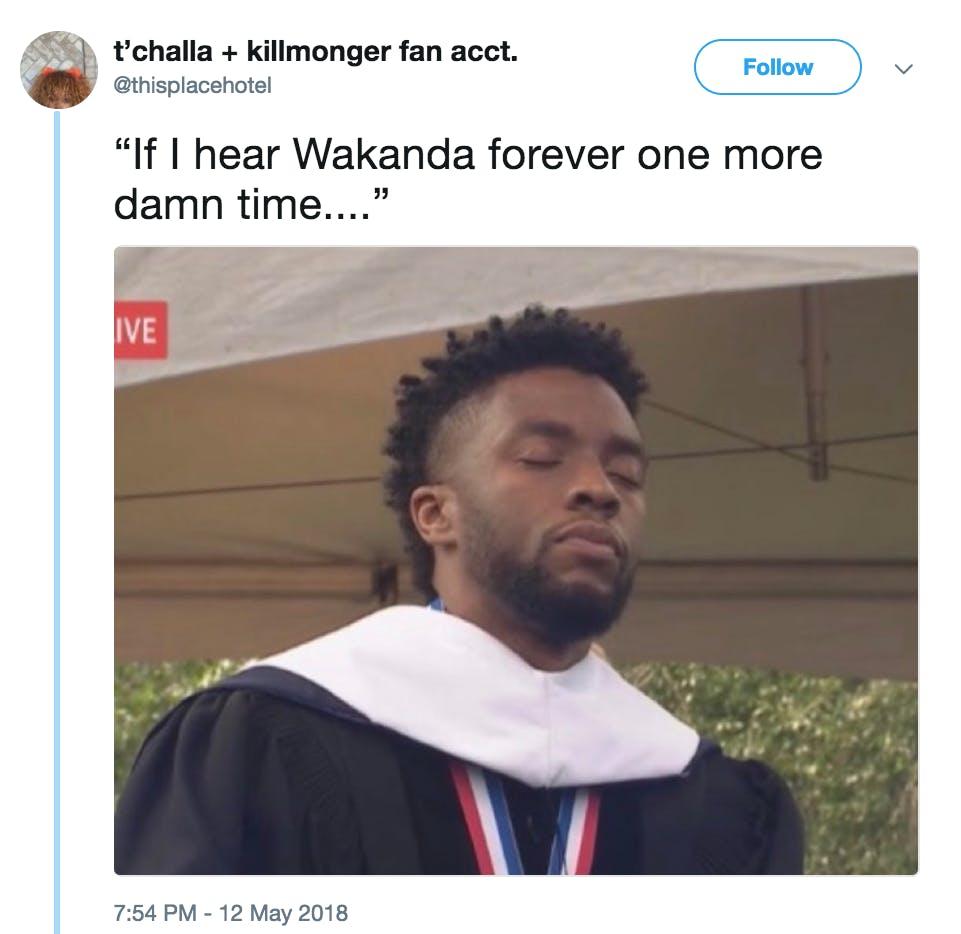 Wakanda Forever Black Panther Meme