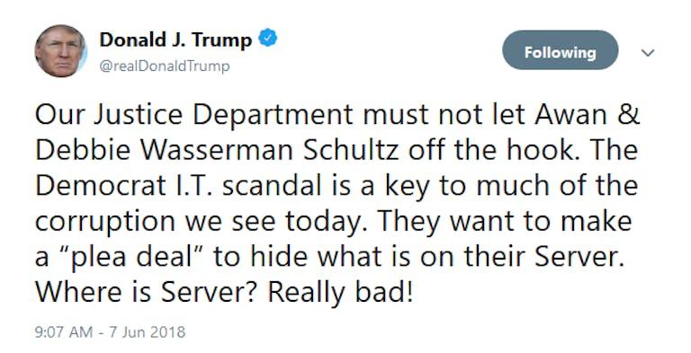 Donald Trump where is server