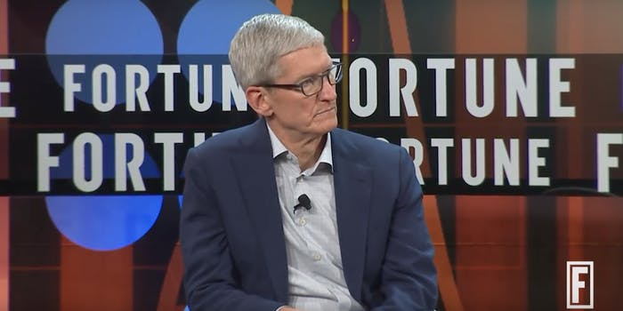 Tim Cook at Fortune CEO event
