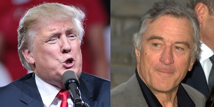 Supporters of Donald Trump are saying they are going to boycott Robert De Niro after his latest remarks about the president.