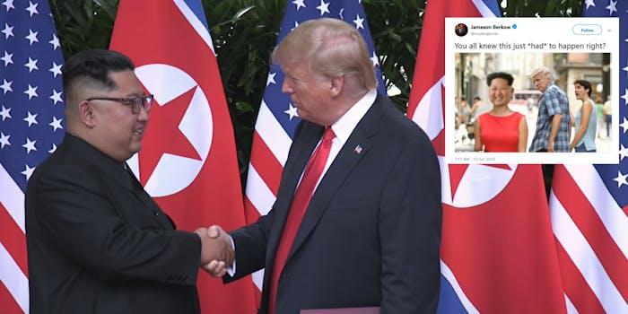 Trump North Korea meeting memes