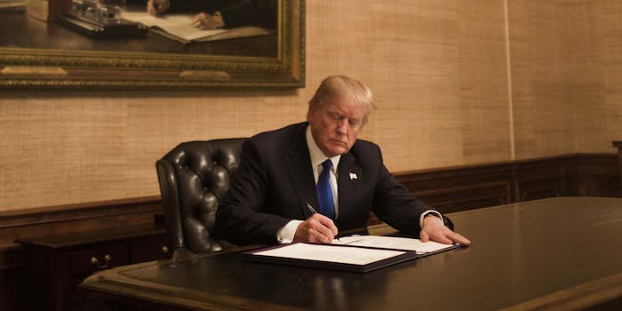President Donald Trump reportedly has a paper ripping habit.