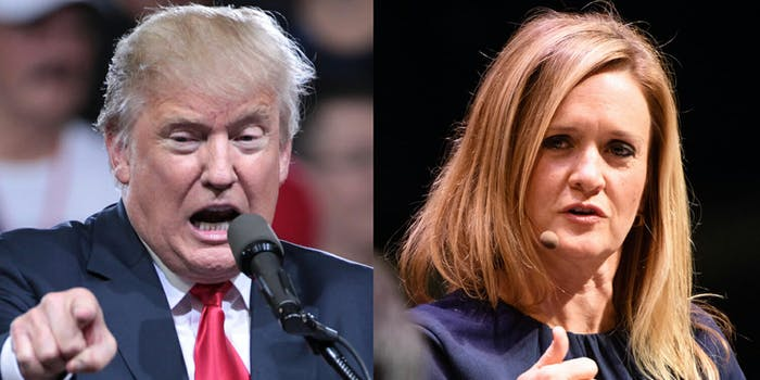 President Donald Trump said there was a 'double standard' when he tweeted about Samantha Bee's remarks about his daughter.
