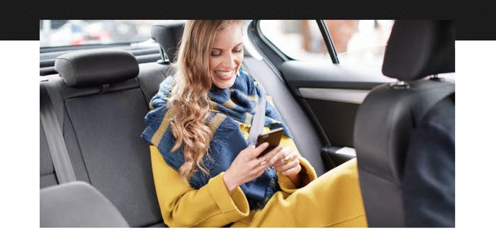 Uber passenger on phone