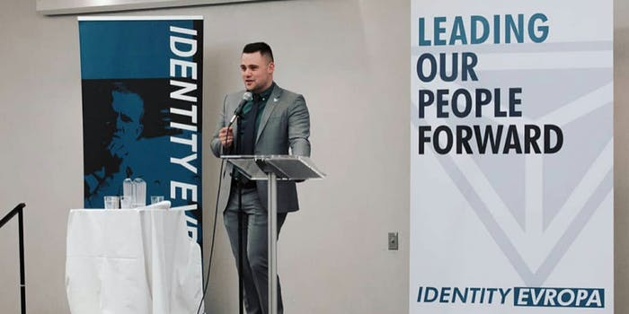 James allsup speaks at alt-right identity evropa conference