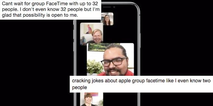 apple group facetime twitter