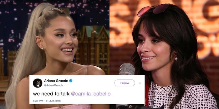 Ariana Grande and Camila Cabello