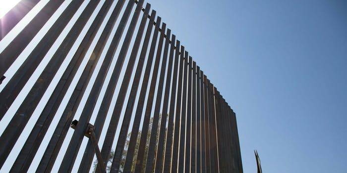 The border wall in the El Centro Sector near the Calexico West Port of Entry.