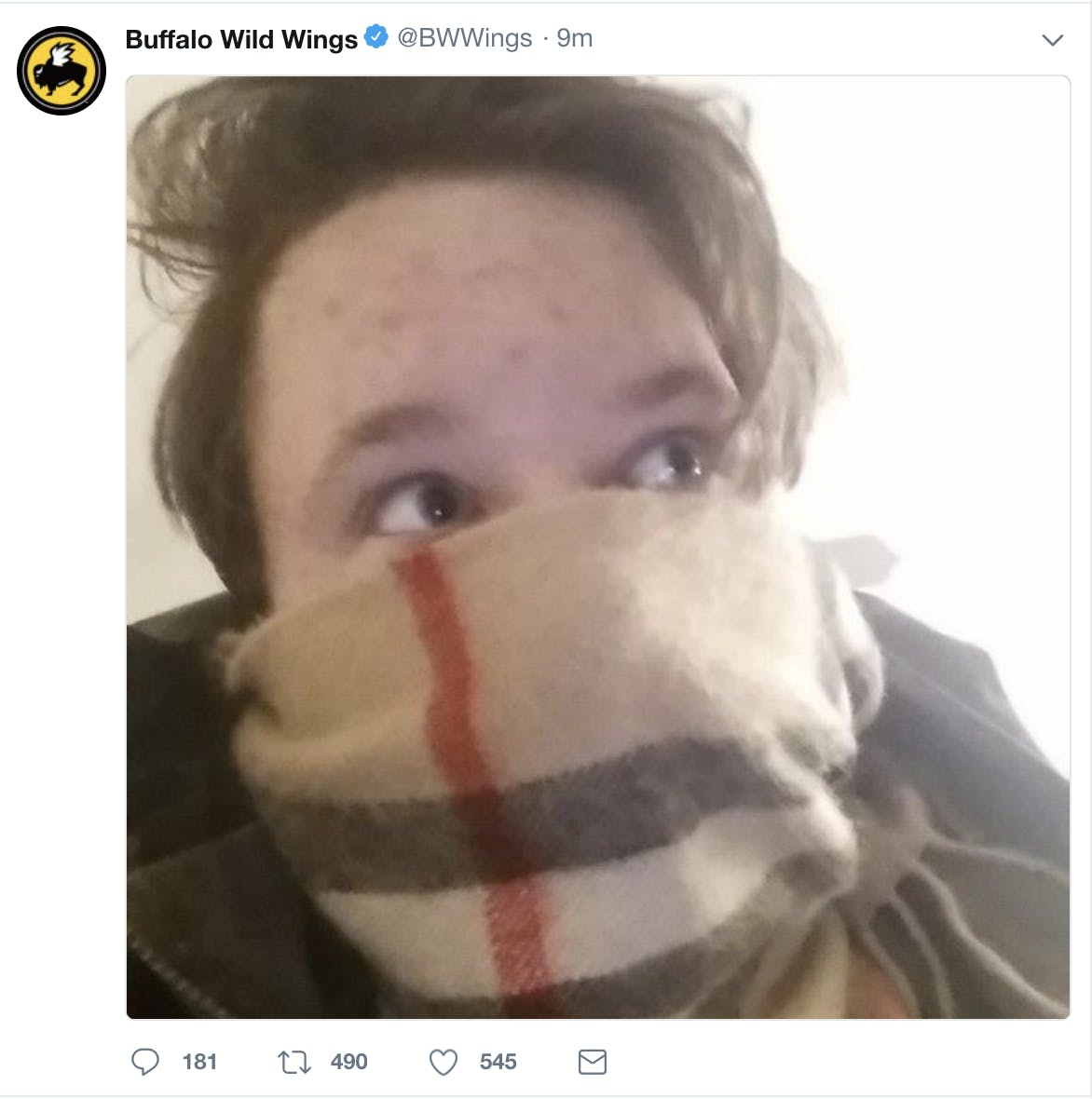 Buffalo Wild Wings Twitter screenshot