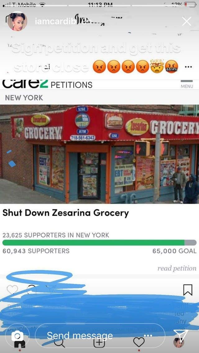 cardi b petition