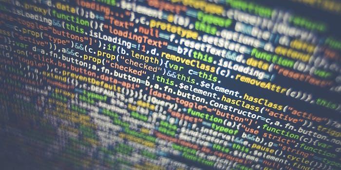 Code onscreen