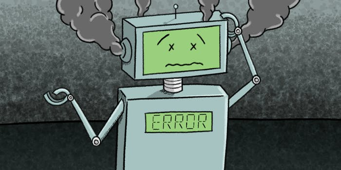 confused malfunctioning robot