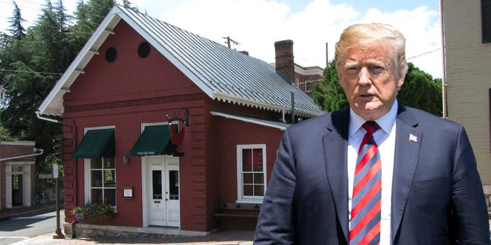 donald trump and the red hen