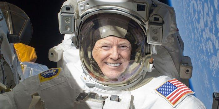 donald trump astronaut
