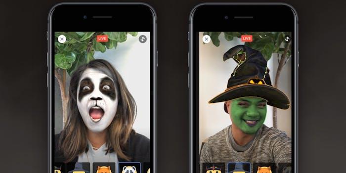 Facebook selfie masks