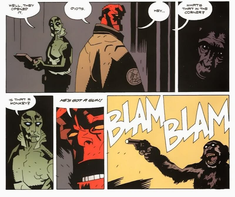 funny superheroes - Hellboy