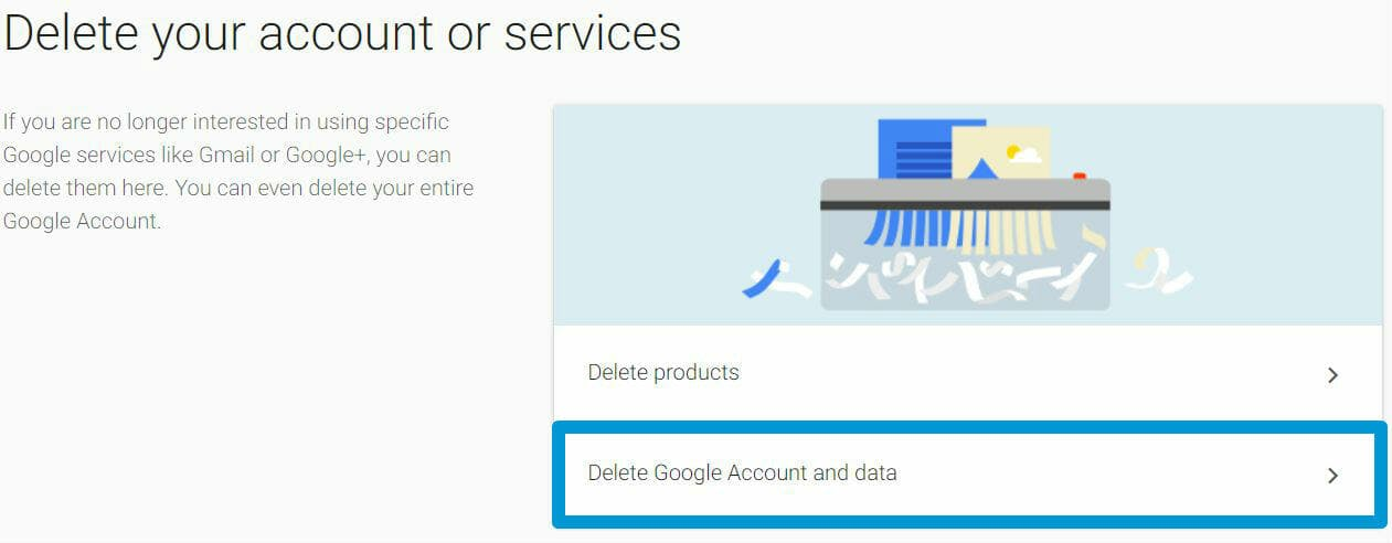 how to delete gmail account - google delete account services
