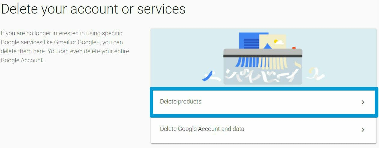 how to delete gmail account - google delete account product