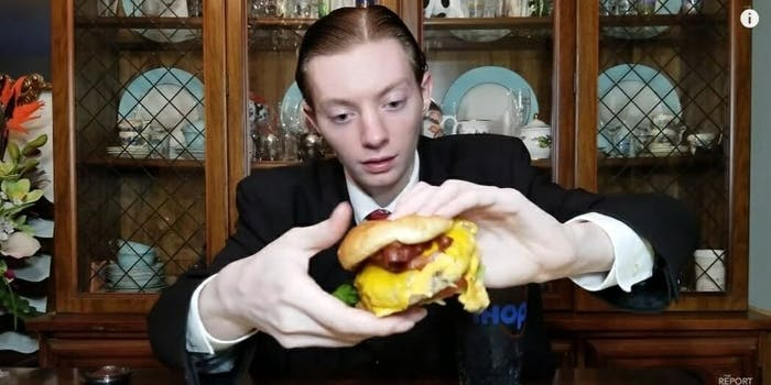 IHOb burger review YouTube thereportofthweek